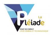 Inscription en classe de seconde 2019/2020 Lycée La Pléiade